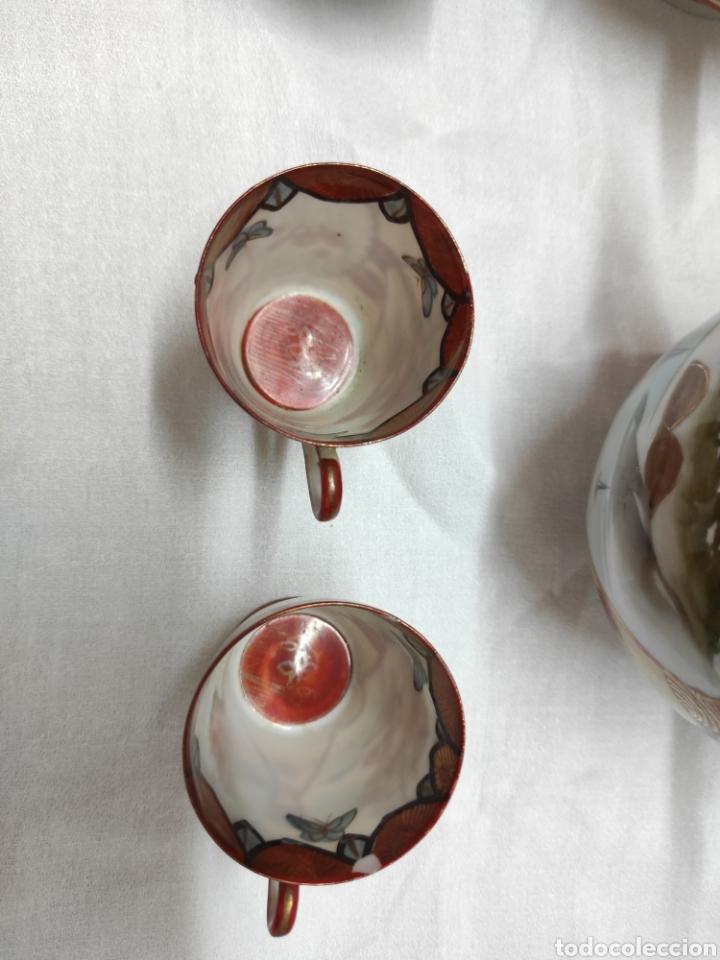 Antigüedades: Juego café o té japonés oriental de cáscara de huevo - Foto 9 - 223478182