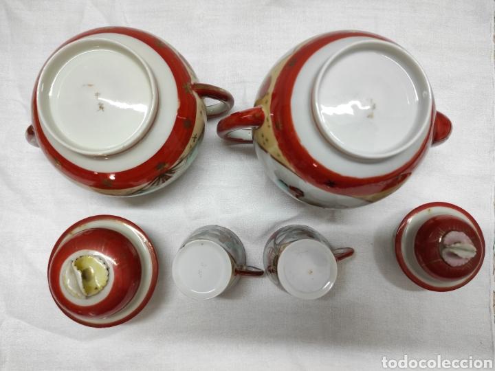 Antigüedades: Juego café o té japonés oriental de cáscara de huevo - Foto 10 - 223478182