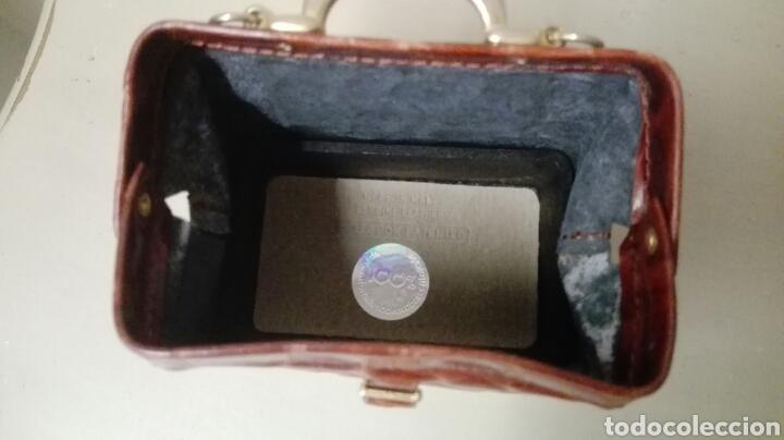 Antigüedades: Coleccion de 4 bolsos italianos en piel sello de garantia en el interior, miniatura. - Foto 7 - 223478827