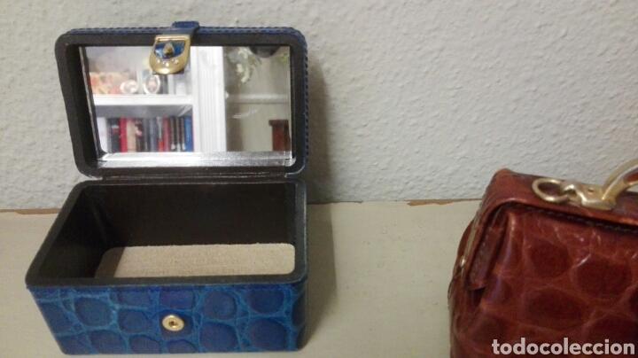 Antigüedades: Coleccion de 4 bolsos italianos en piel sello de garantia en el interior, miniatura. - Foto 9 - 223478827