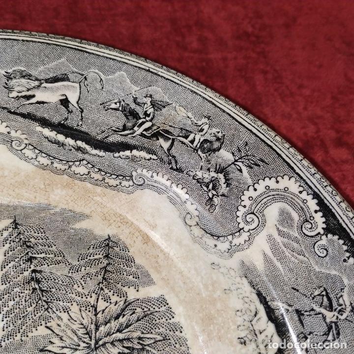 Antigüedades: PLATO EN LOZA ESMALTADA DE CARTAGENA. CON MARCAS. ESPAÑA. SIGLO XIX - Foto 3 - 223484612