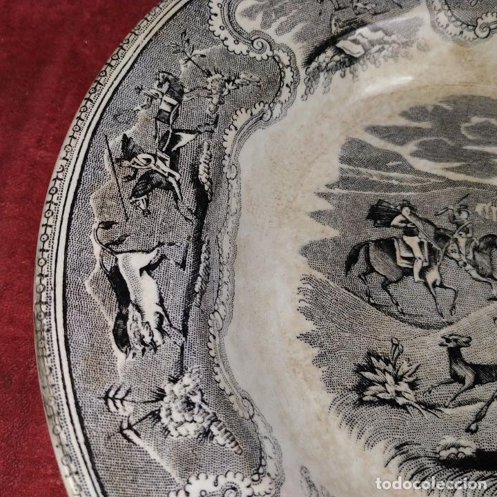 Antigüedades: PLATO EN LOZA ESMALTADA DE CARTAGENA. CON MARCAS. ESPAÑA. SIGLO XIX - Foto 4 - 223484612