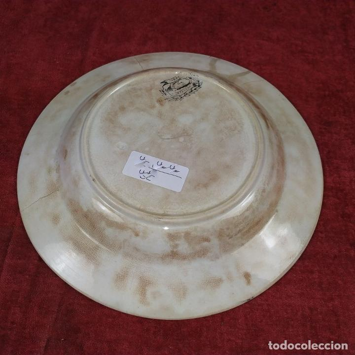Antigüedades: PLATO EN LOZA ESMALTADA DE CARTAGENA. CON MARCAS. ESPAÑA. SIGLO XIX - Foto 7 - 223484612
