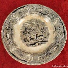 Antigüedades: PLATO EN LOZA ESMALTADA DE CARTAGENA. CON MARCAS. ESPAÑA. SIGLO XIX. Lote 223484612