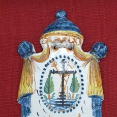 Antigüedades: BENDITERA DE CERÁMICA SIGLO XIX DE RIBESALVES. Lote 223506521