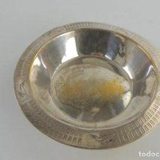 Antigüedades: EXCELENTE CUENCO BAÑADO EN PLATA, AÑOS 70, MARCADO. Lote 223514238