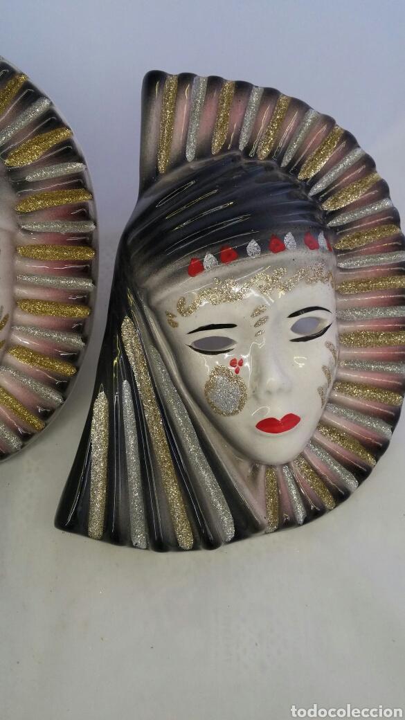 Antigüedades: Mascaras venecianas pared - Foto 2 - 223530668
