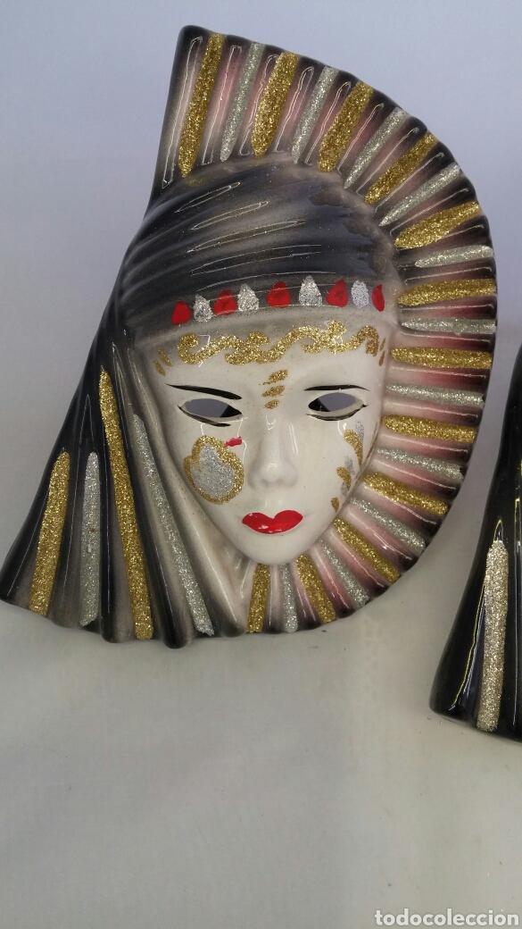 Antigüedades: Mascaras venecianas pared - Foto 3 - 223530668