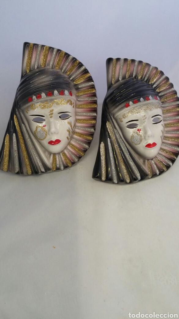 MASCARAS VENECIANAS PARED (Antigüedades - Porcelanas y Cerámicas - Otras)
