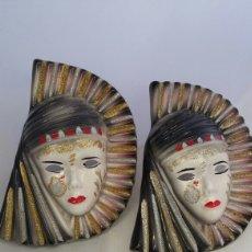 Antigüedades: MASCARAS VENECIANAS PARED. Lote 223530668