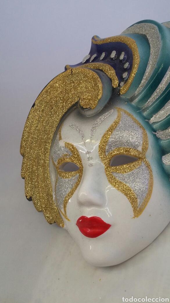 Antigüedades: Mascara veneciana pared - Foto 2 - 223531222