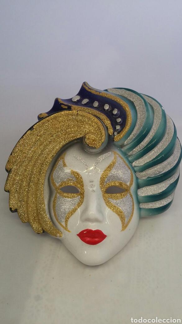 Antigüedades: Mascara veneciana pared - Foto 3 - 223531222