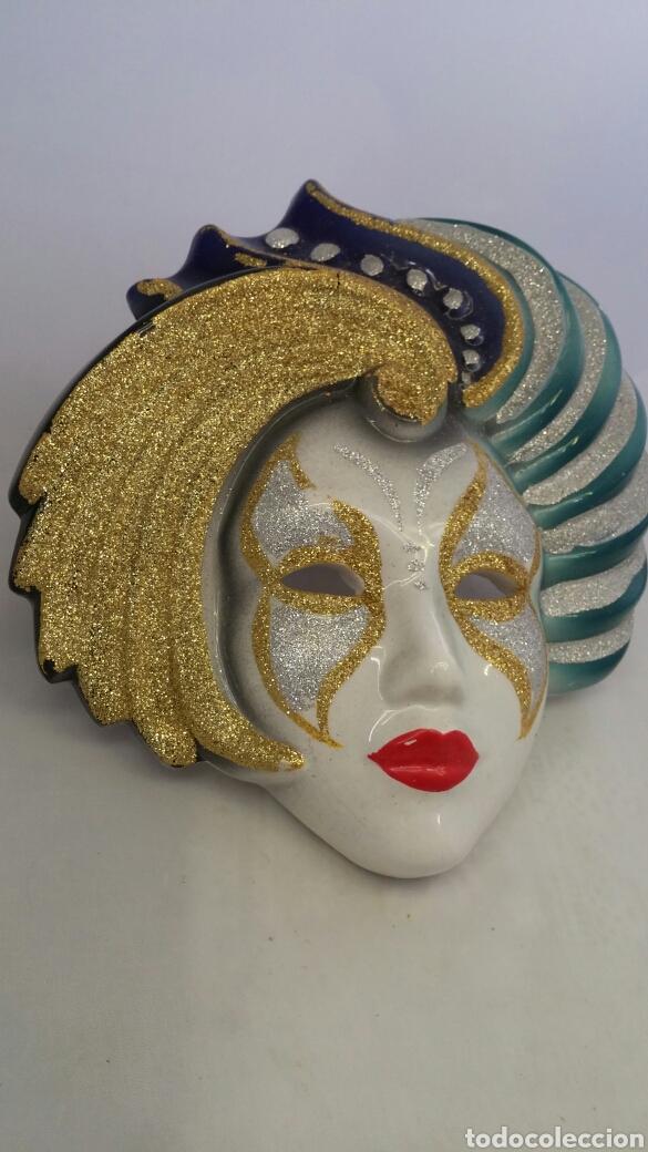 Antigüedades: Mascara veneciana pared - Foto 4 - 223531222