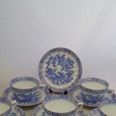 Antiquités: JUEGO CAFE CHINA BLAU ECHT TUPPACK TIEFENFURT. Lote 223534578
