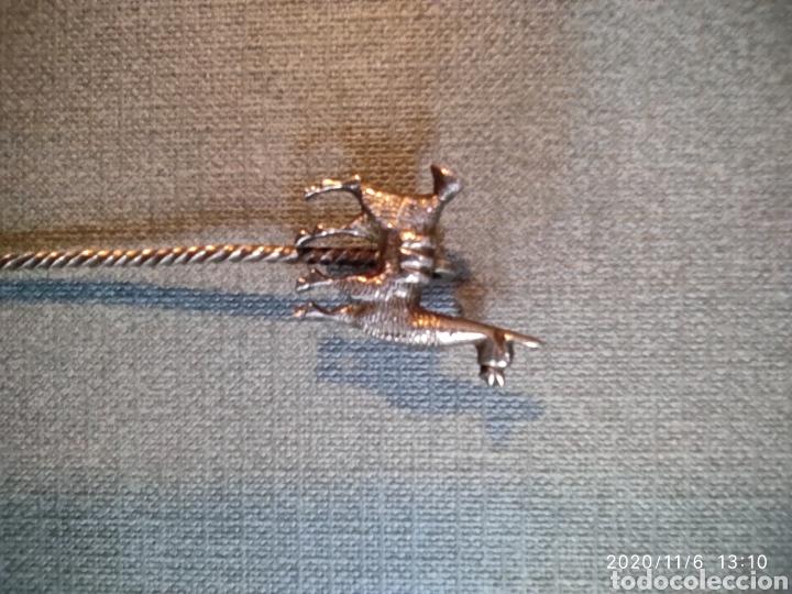 Antigüedades: Pinchos de plata para aperitivos con figuras de llama( Peru) - Foto 3 - 223580807
