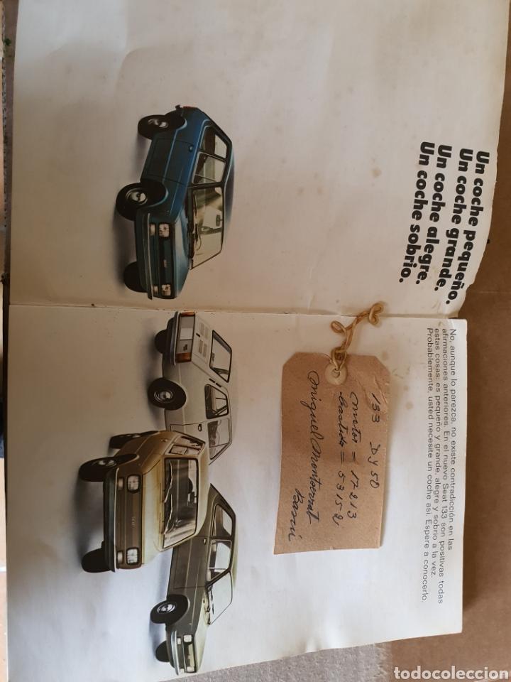 Antigüedades: Catalogo SEAT 133 - Foto 3 - 223582972