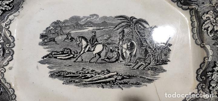 Antigüedades: BONITA BANDEJA DE CARTAGENA , FABRICA LA AMISTAD - Foto 2 - 223587533