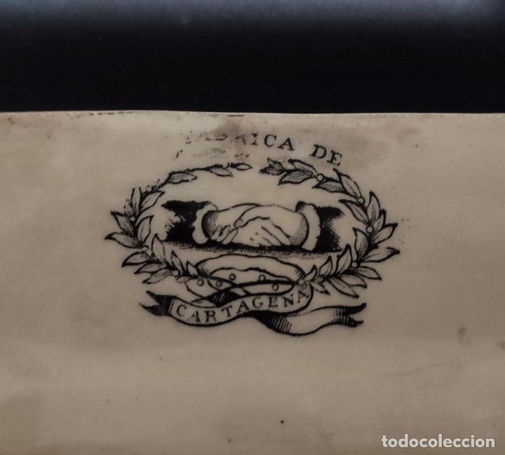 Antigüedades: BONITA BANDEJA DE CARTAGENA , FABRICA LA AMISTAD - Foto 5 - 223587533