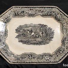 Antigüedades: BONITA BANDEJA DE CARTAGENA , FABRICA LA AMISTAD. Lote 223587533