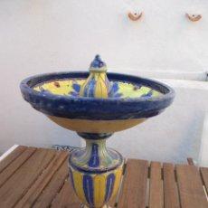 Antigüedades: ANTIGUA FUENTE DE CERAMICA DE TRIANA CUERDA SECA. Lote 223587965