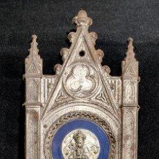 Antigüedades: BONITA BENDITERA, PILETA VIRGEN DE MONTSERRAT, NEOGOTICA. Lote 223588386