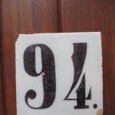 Antigüedades: AZULEJO ANTIGUO NUMERO. Lote 223588405
