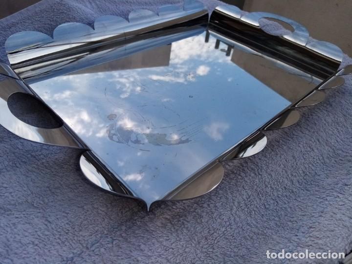 Antigüedades: Bonita bandeja rectangular de acero inoxidable - Foto 2 - 223590382