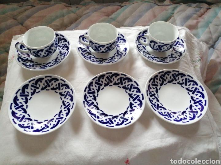 TAZAS Y PLATOS DE CAFÉ SARGADELOS (Antigüedades - Porcelanas y Cerámicas - Sargadelos)