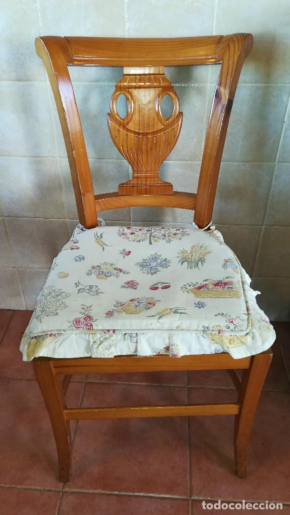 Antigüedades: SILLAS MADERA ROBLE ASIENTO ESPARTO - Foto 2 - 223602527