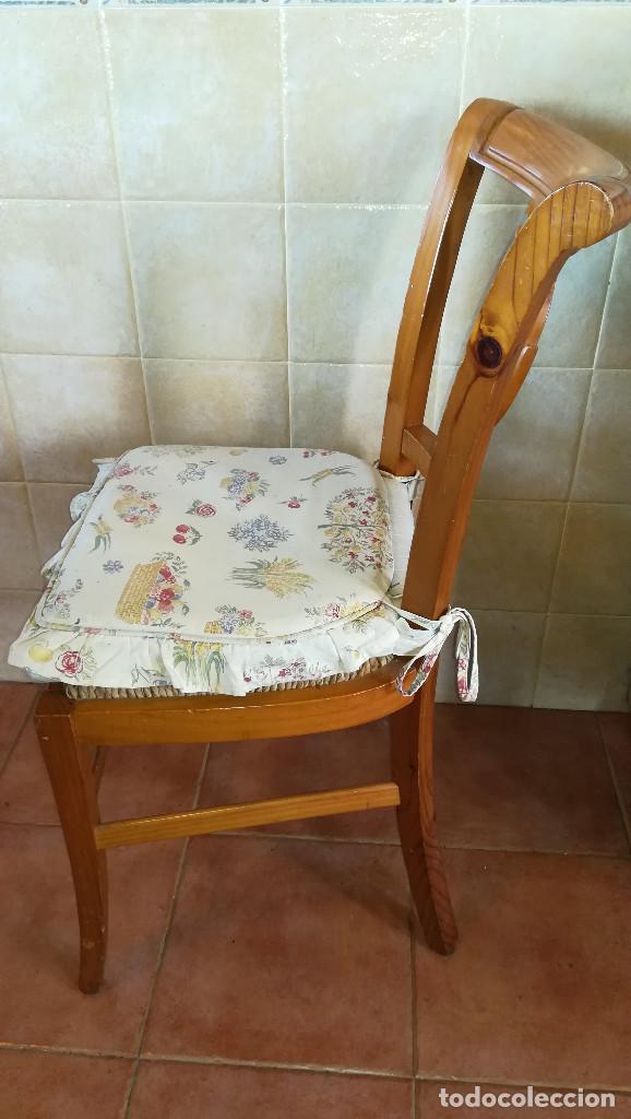 Antigüedades: SILLAS MADERA ROBLE ASIENTO ESPARTO - Foto 3 - 223602527