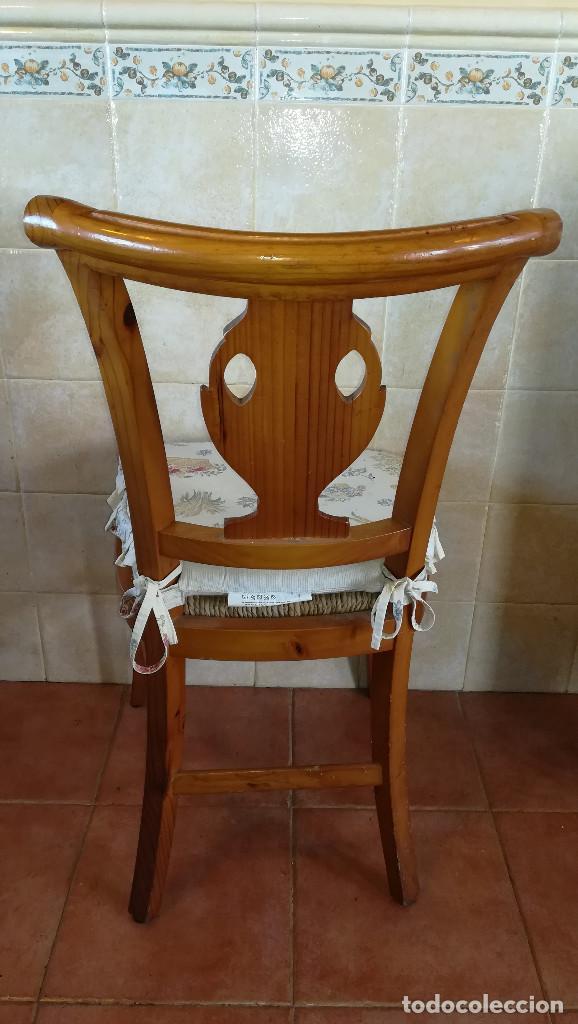 Antigüedades: SILLAS MADERA ROBLE ASIENTO ESPARTO - Foto 4 - 223602527