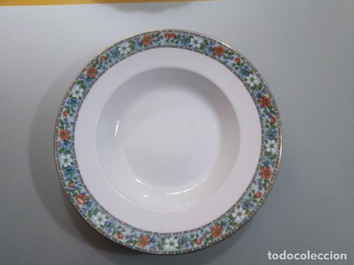 PLATO HONDO DE 24 CM - SAN JUAN DE AZNALFARACHE (Antigüedades - Porcelanas y Cerámicas - San Juan de Aznalfarache)