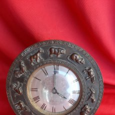 Antigüedades: ANTIGUO RELOJ A CUERDA BRONCE. Lote 223641105