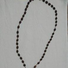 Antigüedades: ANTIGUO ROSARIO CUENTAS DE MADERA. Lote 223659652