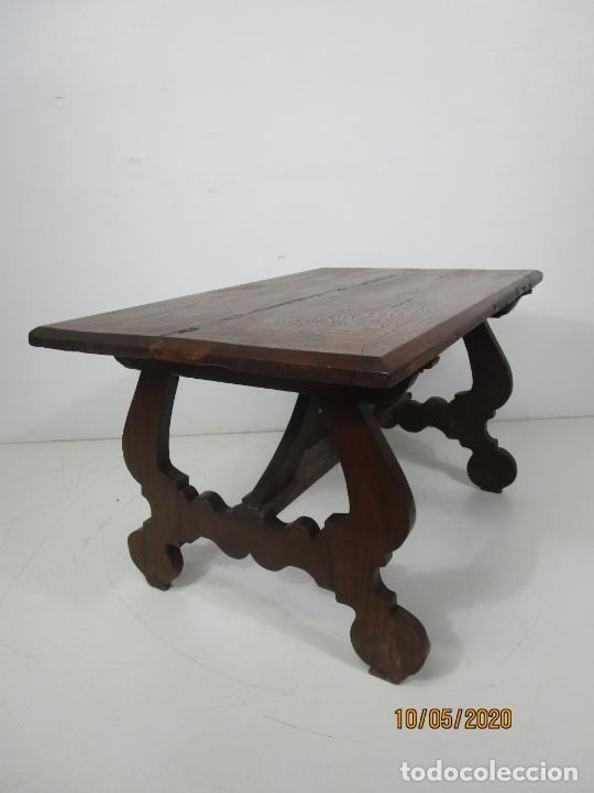 Antigüedades: Antigua mesa de centro Pata de lira - Foto 3 - 223678728