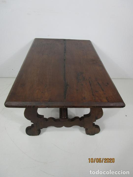 Antigüedades: Antigua mesa de centro Pata de lira - Foto 5 - 223678728