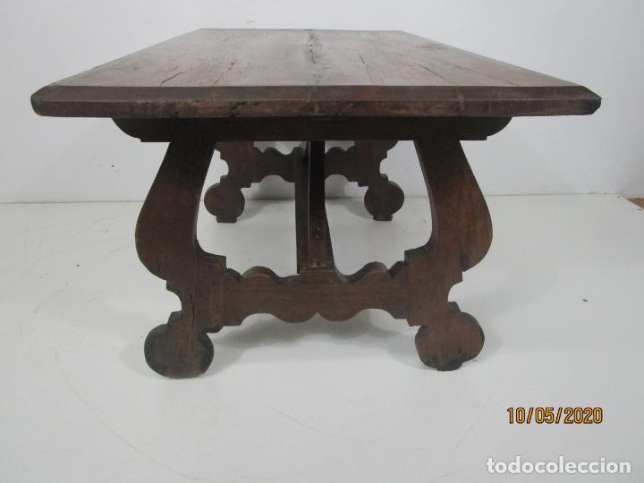 Antigüedades: Antigua mesa de centro Pata de lira - Foto 8 - 223678728