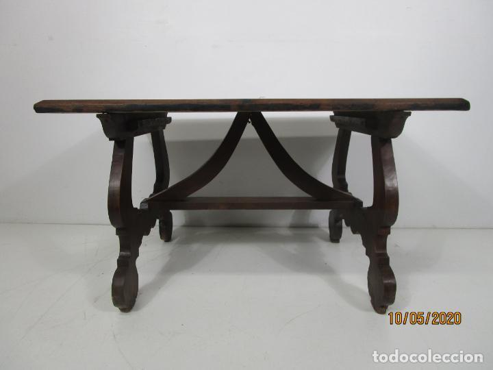 Antigüedades: Antigua mesa de centro Pata de lira - Foto 22 - 223678728