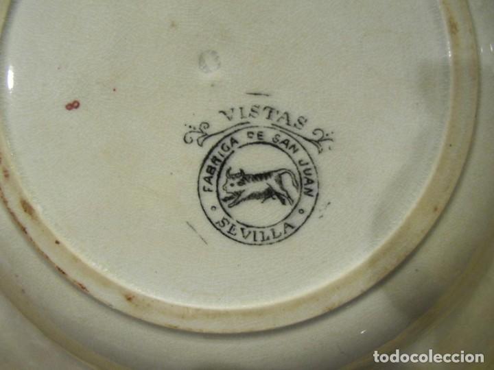 Antigüedades: PAREJA DE PLATOS HONDOS - SAN JUAN DE AZNALFARACHE - SERIE VISTAS - Foto 5 - 223689260