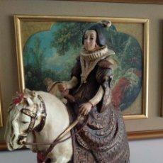 Antigüedades: FIGURA REINA ISABEL DE FRANCIA. Lote 223699946