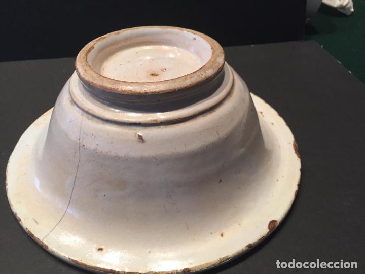 Antigüedades: CUENCO EN CERAMICA DE MANISES - SIGLO XIX - Foto 5 - 223706590