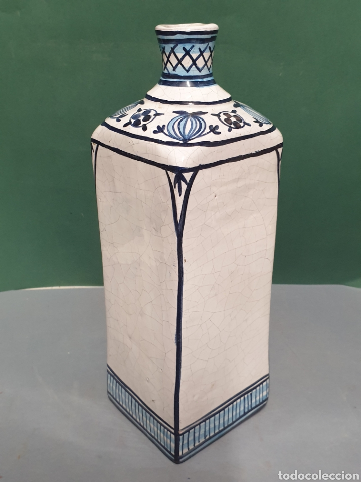 Antigüedades: Botella farmacia de cerámica vidriada de A. Melisa - Foto 4 - 223707070