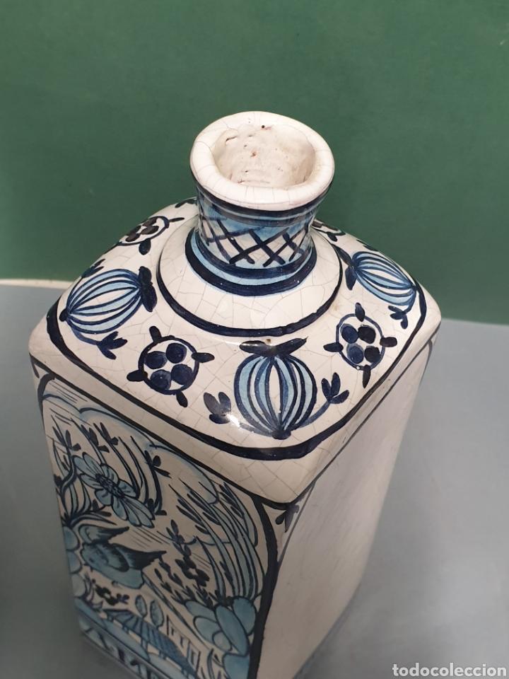 Antigüedades: Botella farmacia de cerámica vidriada de A. Melisa - Foto 5 - 223707070