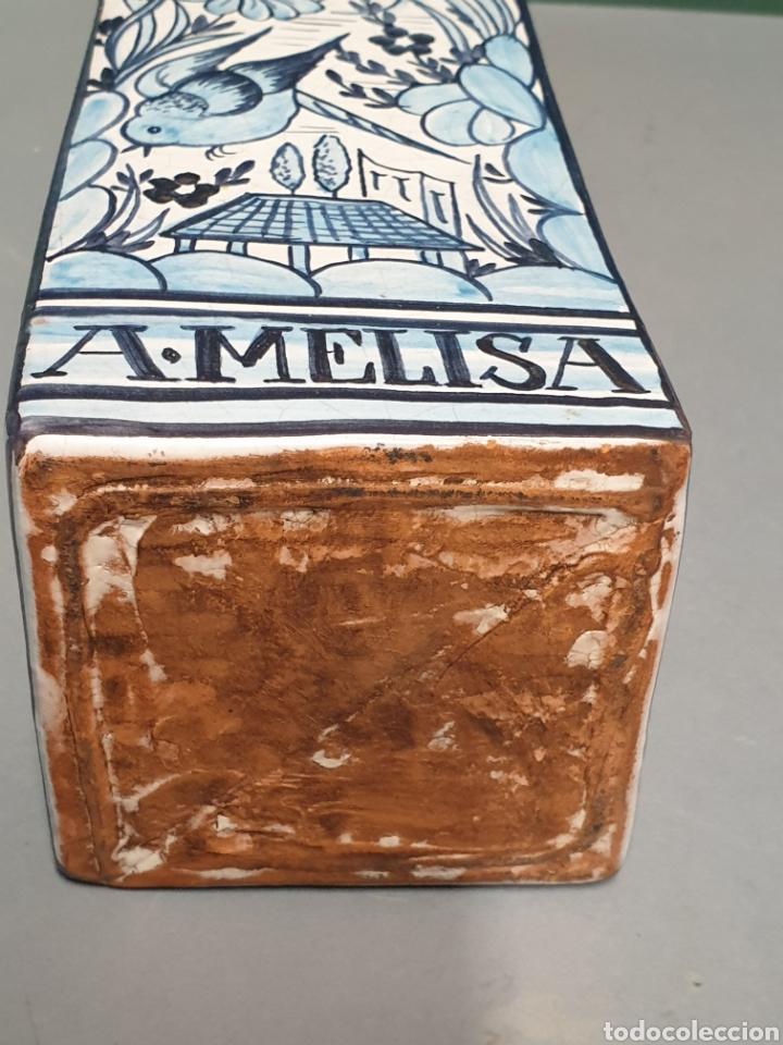 Antigüedades: Botella farmacia de cerámica vidriada de A. Melisa - Foto 6 - 223707070