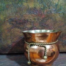 Antigüedades: CESTA DE COBRE DE INDIA. Lote 223719648