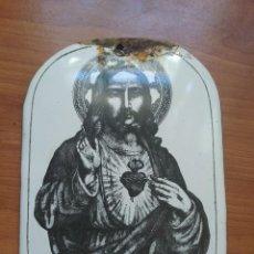 Antigüedades: CORAZÓN DE JESÚS PORCELANA. Lote 223805272