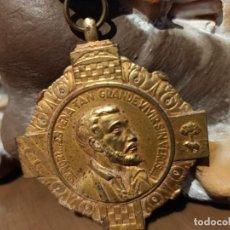 Antigüedades: MEDALLA DE SAN FRANCISCO JAVIER/ SANTA MARIA REINA DE LOS APOSTOLES. Lote 223840847