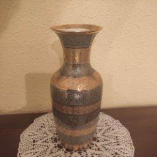 Antigüedades: JARRON SNEROLL BOHEMIA PORCELANA ORO Y PLATA. Lote 223842658