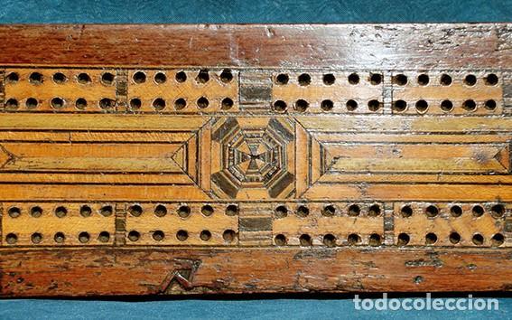 Antigüedades: ANTIGUA Y PRECIOSA TAPA DE MADERA - MARQUETERÍA - JUEGO - INCENSARIO - AMBIENTADOR - DECORACIÓN - Foto 3 - 223848700