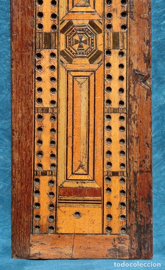 Antigüedades: ANTIGUA Y PRECIOSA TAPA DE MADERA - MARQUETERÍA - JUEGO - INCENSARIO - AMBIENTADOR - DECORACIÓN - Foto 4 - 223848700